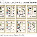 Ejemplos de boleta considerada como voto nulo